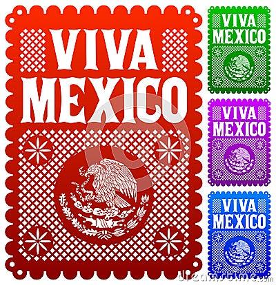 Free Viva Mexico - Mexican Holiday Vector Decoration Stock Photography - 33515792