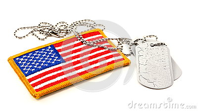 Vivid American Flag Patch and Dog Tags