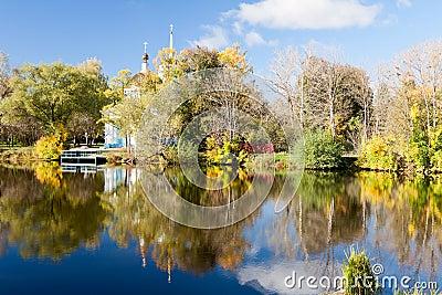 Vivid autumn picturesque scenery