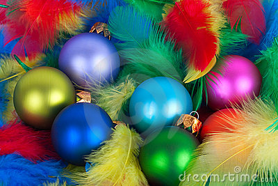 Vivid Christmas globes colorful balls.