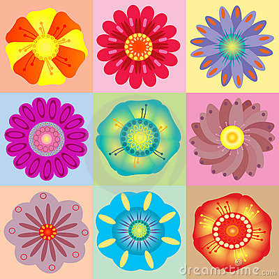 Vivid colorful floral background