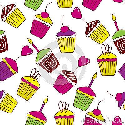 Vivid cupcakes