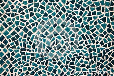 Vivid green ceramic tiles