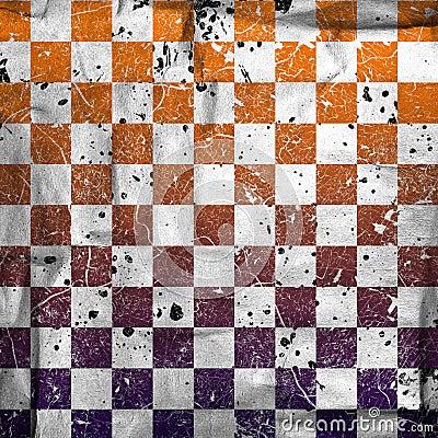 Vivid grunge chessboard backgound