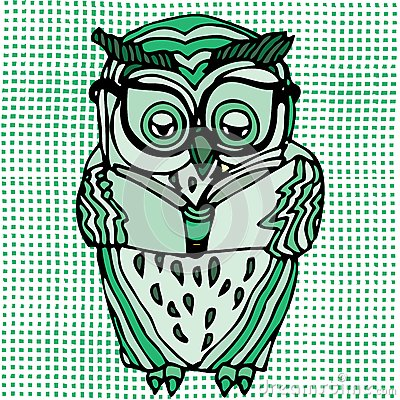 Vivid illustration of owl