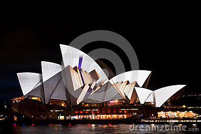 Vivid Light Festival on Sydney Opera House Editorial Image