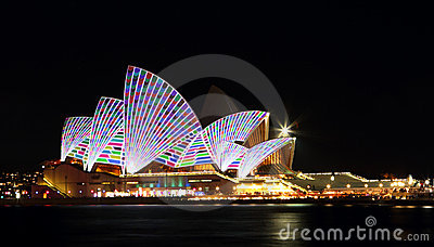 Vivid Opera House Editorial Photography