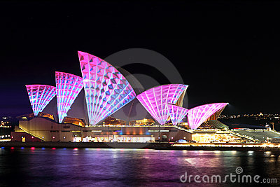 Vivid Opera House Editorial Photo