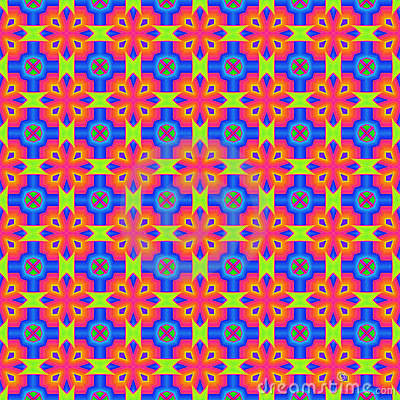 Vivid Overlapping Abstract Squares