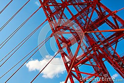Vivid red bridge