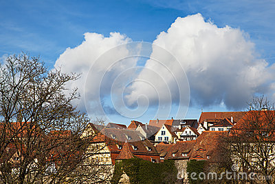 Vivid sky over Rothenburg