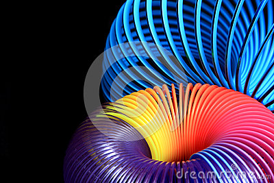 Vivid spirals on black