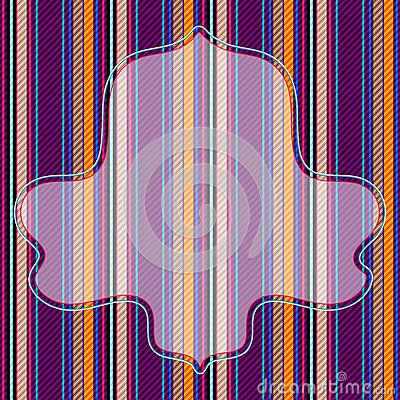 Vivid striped pattern with frame