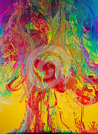 Vivid Swirls of Liquid Paints