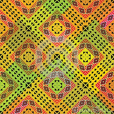 Vivid tribal pattern