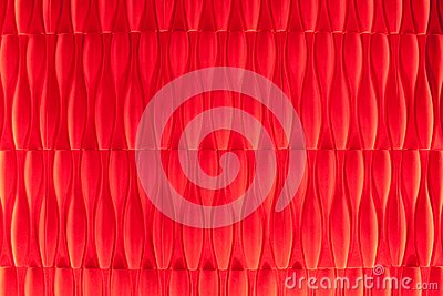 Vivid vermilion velvet wallpaper abstract design