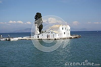 Vlacherna monastery in Corfu Town (Greece) Editorial Photo