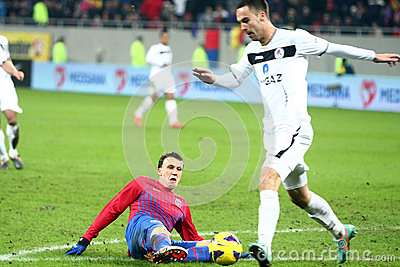 FC Steaua Bucharest- FC Gaz Metan Medias Editorial Stock Image