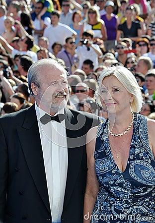 Vladimir Khotinenko with his wife Tatiana Yakovlev Editorial Photo