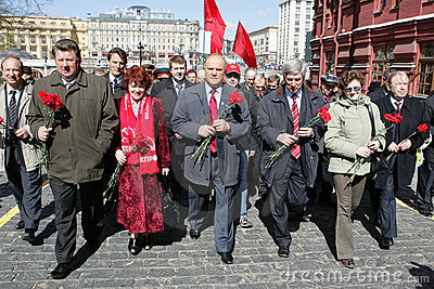 Vladimir Lenin s anniversary Editorial Photography