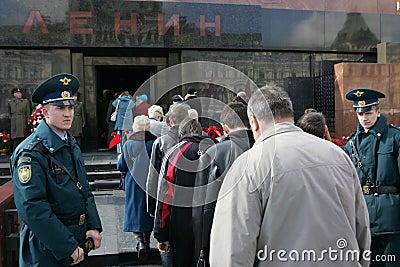 Vladimir Lenin s anniversary Editorial Image