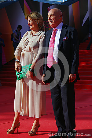 Vladimir Pozner at Moscow Film Festival Editorial Stock Photo