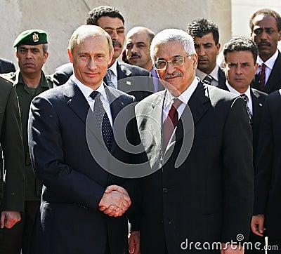 Vladimir Putin and Mahmoud Abbas Editorial Photography