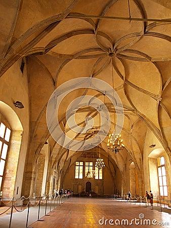 Vladislav Hall, Prague, Czech Republic Editorial Stock Image