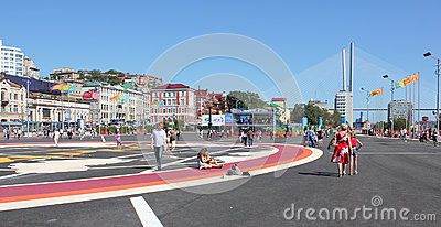 Vladivostok during the APEC summit Editorial Photography