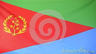 Vlag van Eritrea stock footage