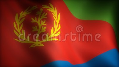 Vlag van Eritrea royalty-vrije illustratie