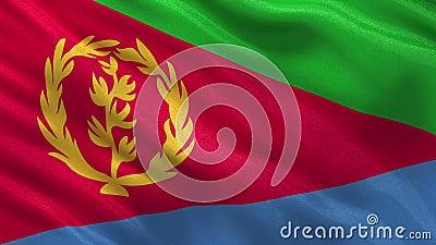 Vlag van Eritrea - naadloze lijn vector illustratie