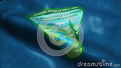 Vlag van het Ministerie van Verenigde Staten van Dienst van de Lijn van het Landbeheer stock illustratie
