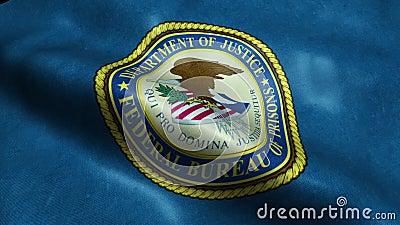 Vlag van het Ministerie van Verenigde Staten van Federale Dienst van Gevangenissenlijn royalty-vrije illustratie