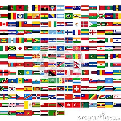 Vlaggen van de wereld royalty vrije stock foto afbeelding 11936675 - Basket thuis van de wereld ...