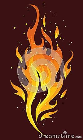 Vlammen en brand