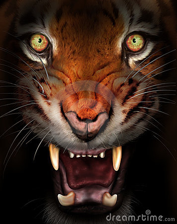 Våldsam tiger