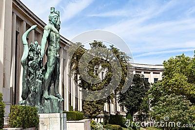 Vleugel van trocadero in Parijs, Frankrijk