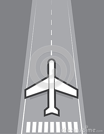 Of vliegtuig die landen opstijgen