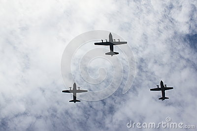 Vliegtuigen Redactionele Afbeelding