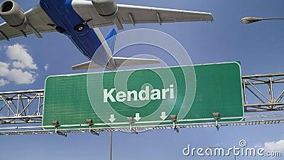 Vliegtuigstart Kendari stock video