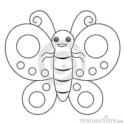 Vlinder lineart