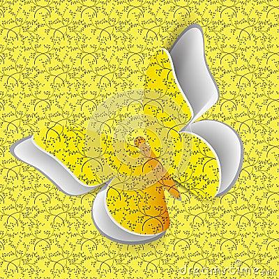 Vlinder op naadloos patroon