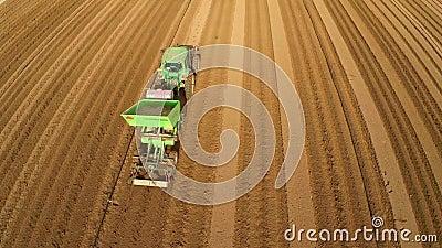 Vlucht over Aardappelgebied stock video