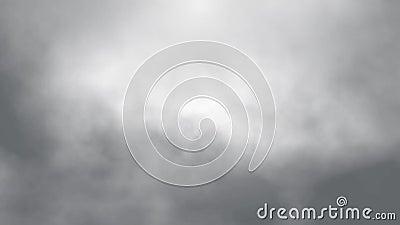 Vlucht over de wolkenanimatie van de mistrook, naadloze lijn klaar animatie stock video