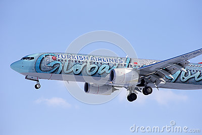 Boeing 737-800 TURKISH AIRLINES Editorial Stock Image