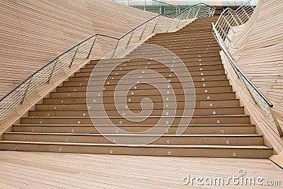 Vôo de escadas ao ar livre