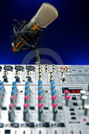 Vocal Mic and Mixer