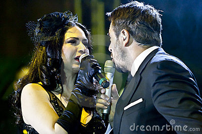 Vocal Players at the Vienna Ball Editorial Stock Photo