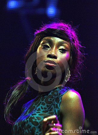 Vocalist Bridgette Amofah, Group OI VA VOI. Editorial Stock Image